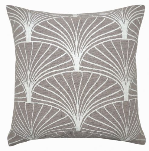LUXURY SOFT CHENILLE GEOMETRIC SCATTER  FILLED CUSHION GREY COLOUR